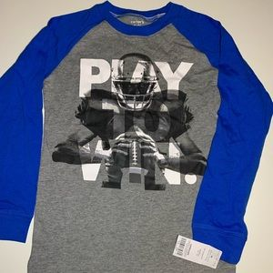 "Long sleeved football T-shirt ""Play to Win"""